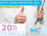 Healthy Living Promotion 2016, 20% off Programs 1-9 021066999EXT129,269